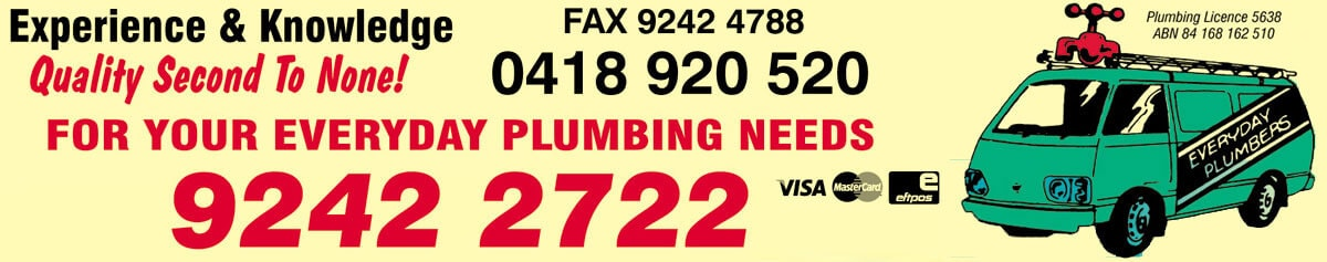 Everyday Plumbers Company Website Footer Image
