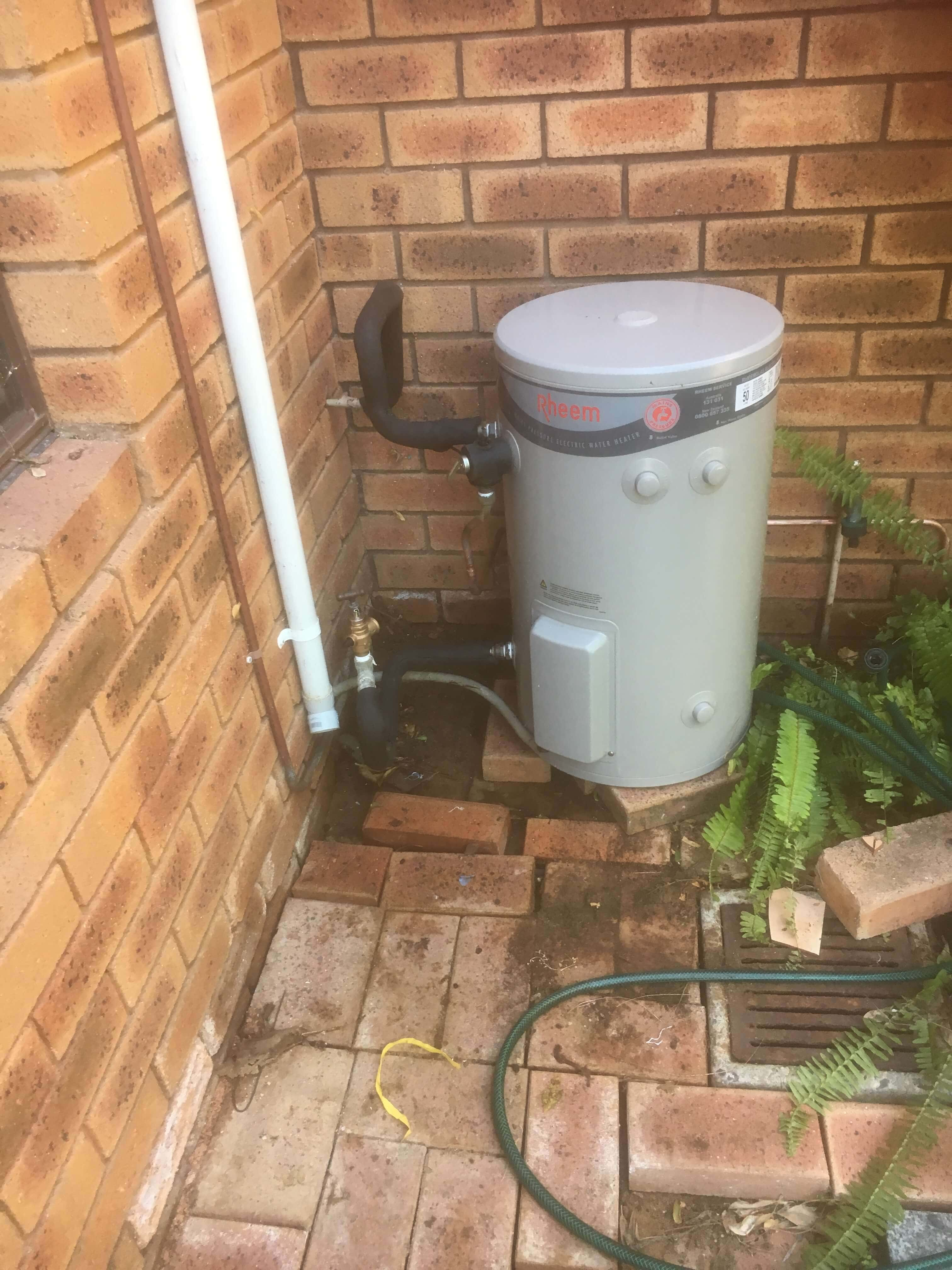 Everyday Plumbers Residential Hotwater Services - Full View of the Machine Outside