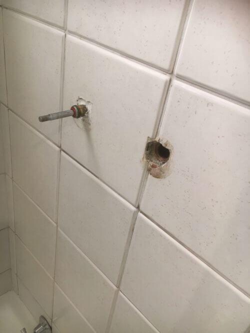 Everyday Plumbers Leaking Tap Repairs - Piping Hole in Tiles