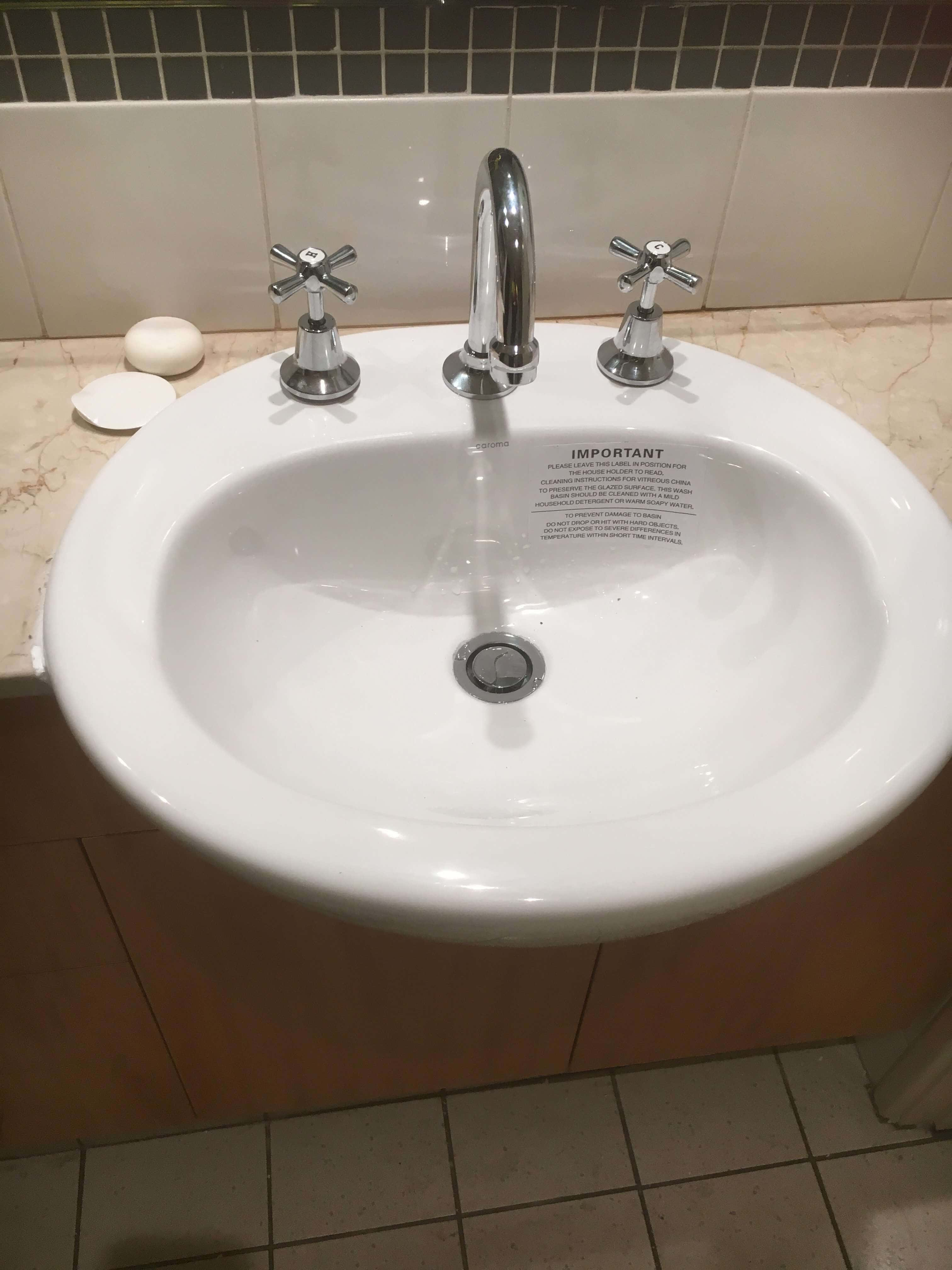 Everyday Plumbers Residential Sanitary Fixtures - Ceramic Circular Sink with Two Tap Source 2787