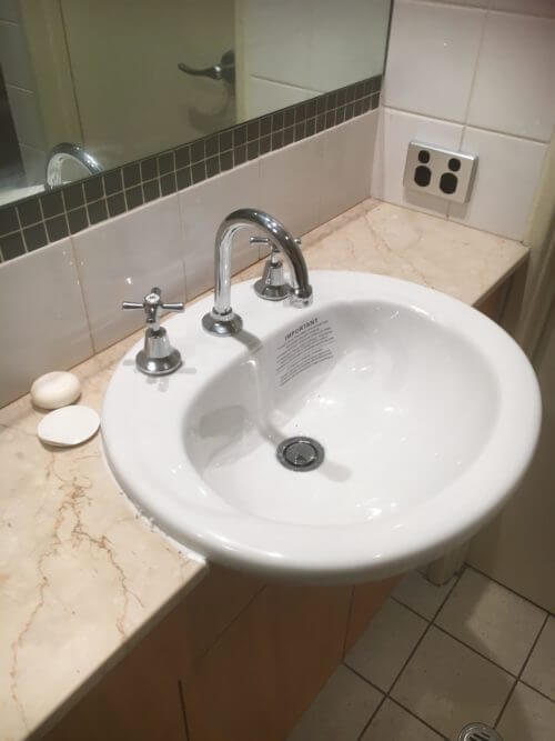 Everyday Plumbers Residential Sanitary Fixtures - Ceramic Circular Sink with Two Tap Source _2788