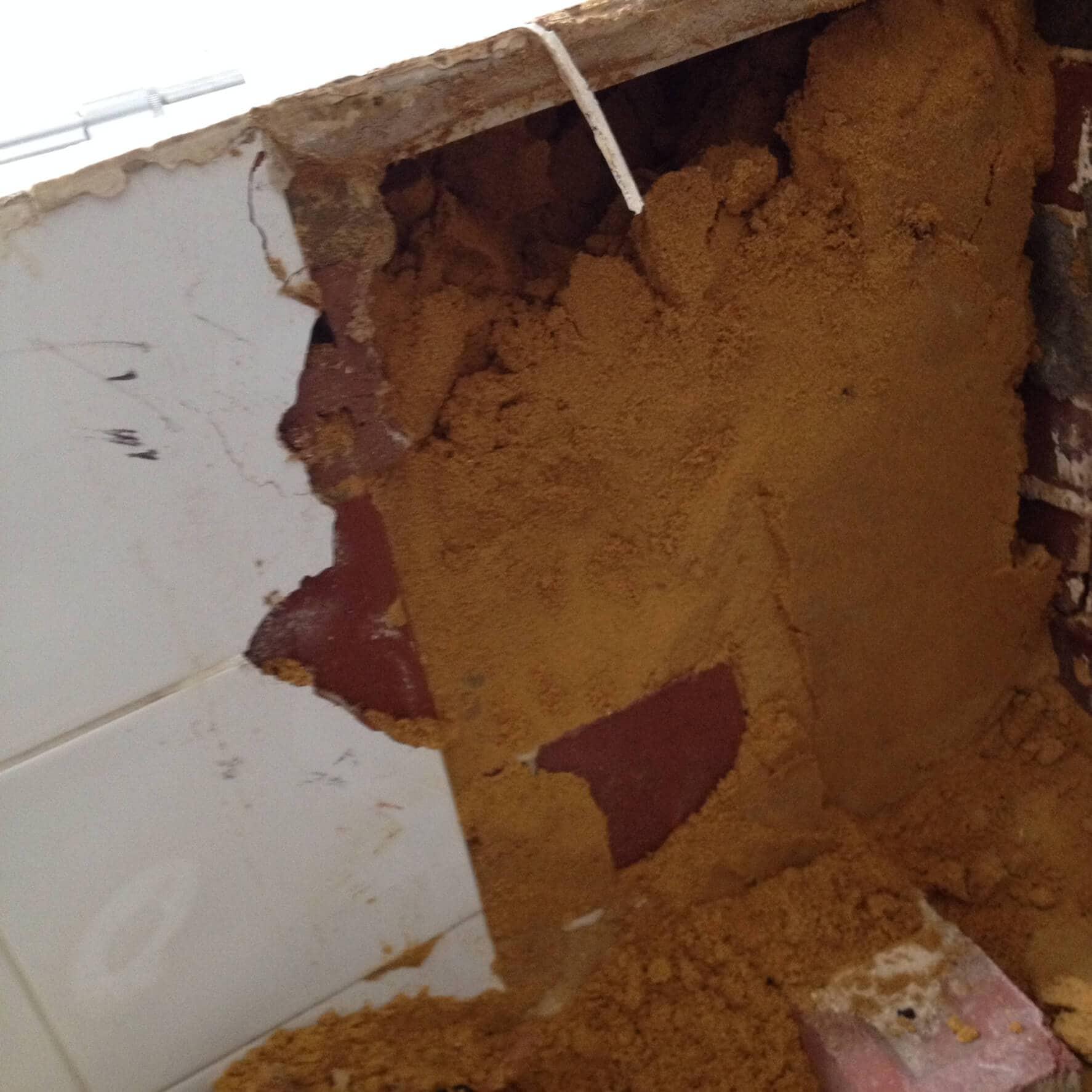 Everyday Plumbers Residential Vanity Basin Repairs - Basin Repair in Progress Digging 0391