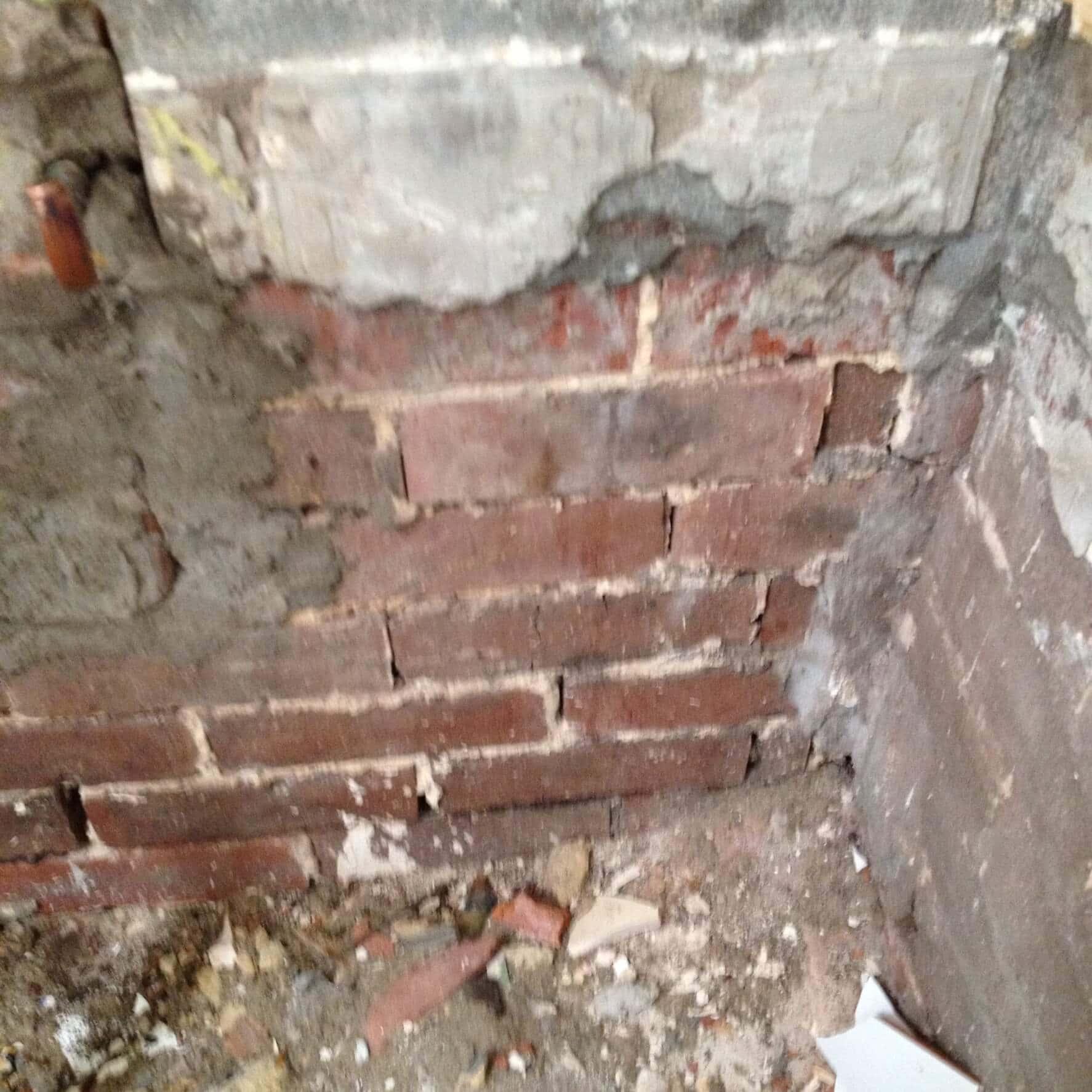 Everyday Plumbers Residential Vanity Basin Repairs - Basin Repair in Progress Wall Patching 0394